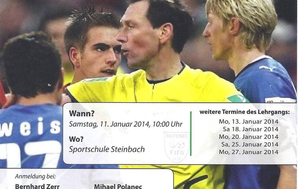 Werde Fußball-Schiedsrichter/in